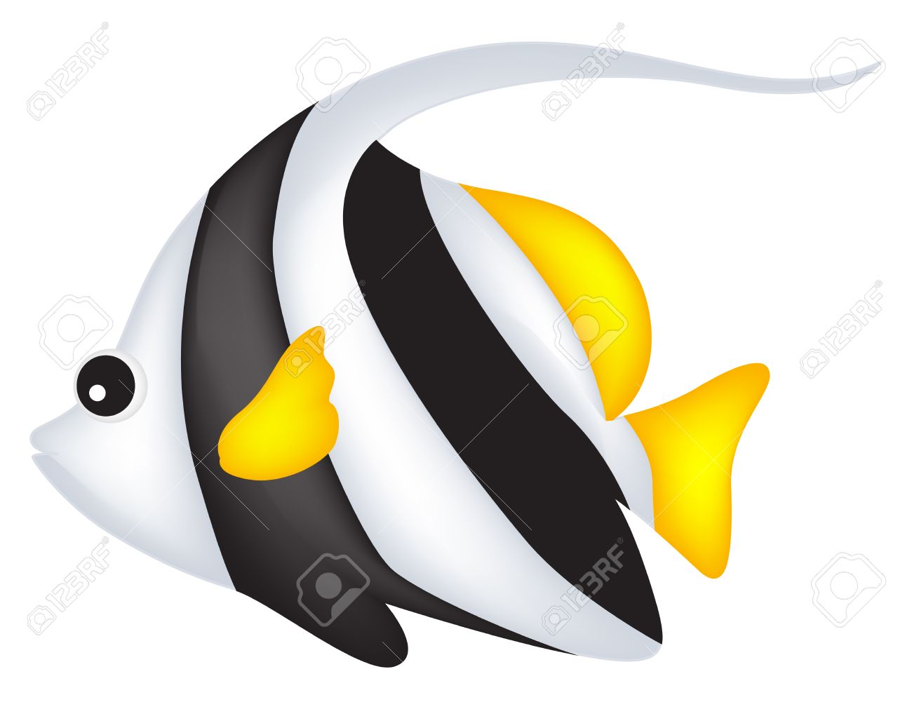 cute black and white angel fish clip art isolated on white rh 123rf com angelfish clipart angelfish clipart
