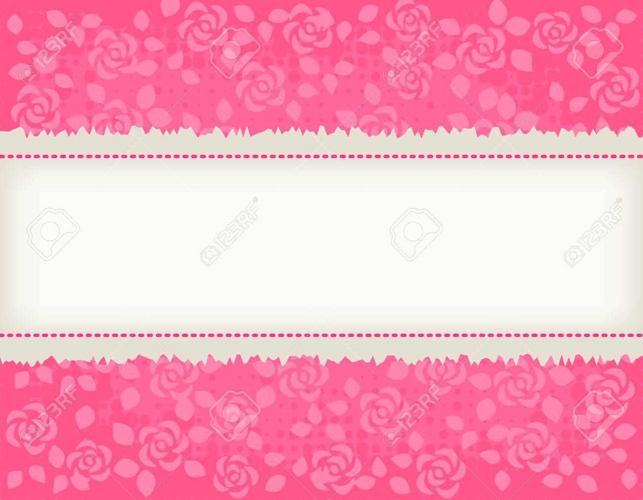 rosas rosadas bonitas texrured fondo wth marco de color marrón claro