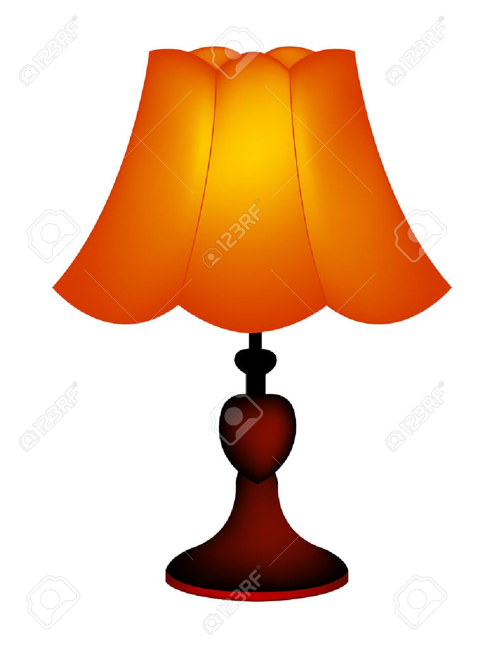 Image D Une Lampe innustration isolée d'une lampe de table / abat-jour sur fond blanc