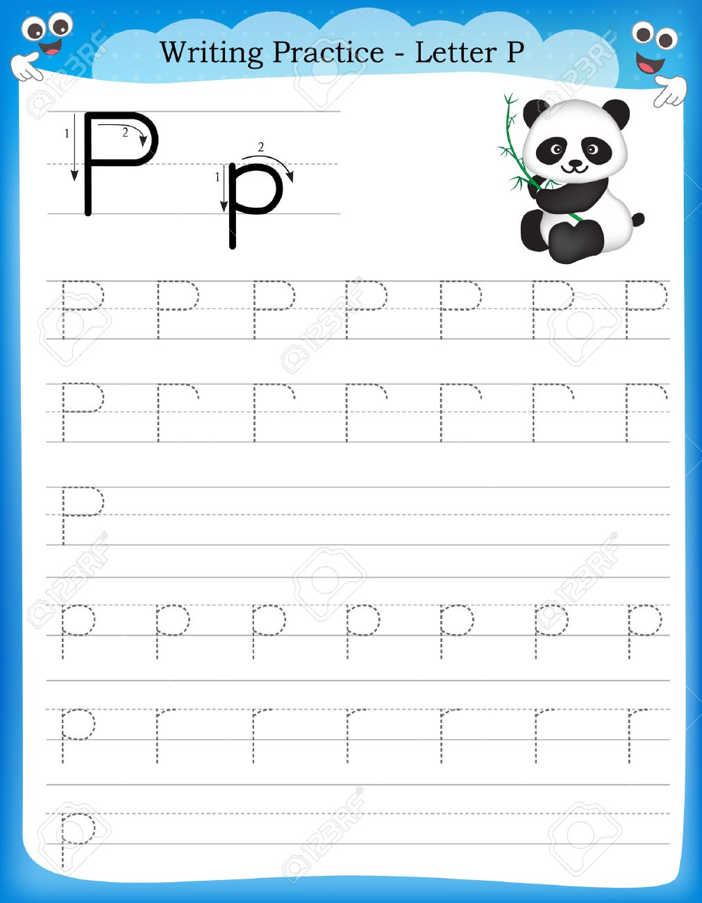 Schreiben Praxis Buchstaben P Druckbare Arbeitsblatt Mit Clip-Art ...