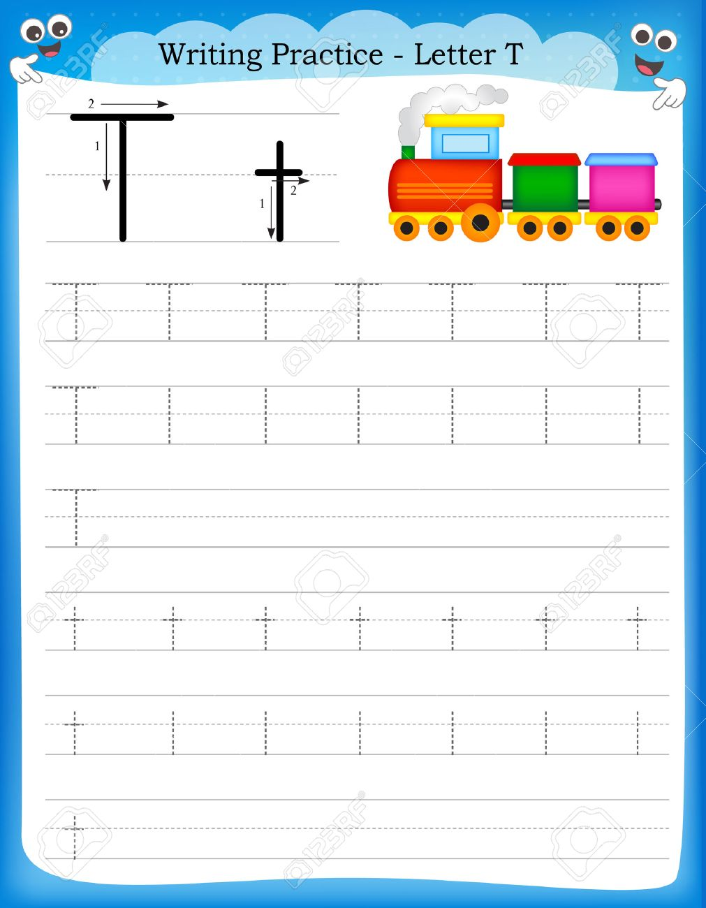 Handwriting practice sheet. educational children game,... clipart ...