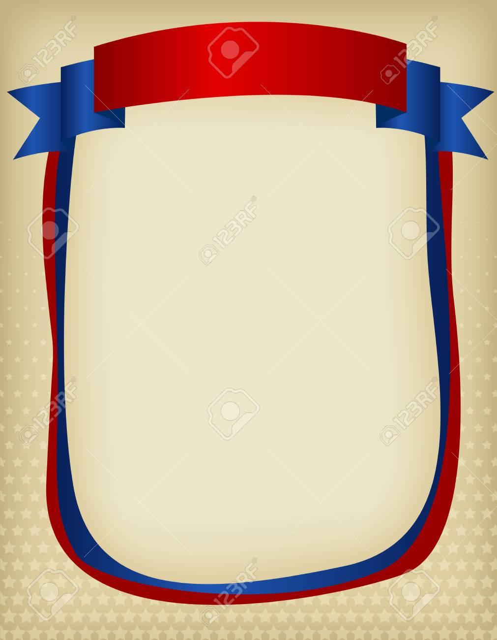 EE.UU. Marco Patriótico Americano Con Bandera De La Cinta En La ...