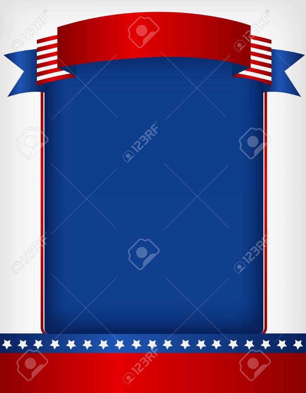 EE.UU. Patriótica 4ta Del Bastidor De Julio Con La Bandera En La ...