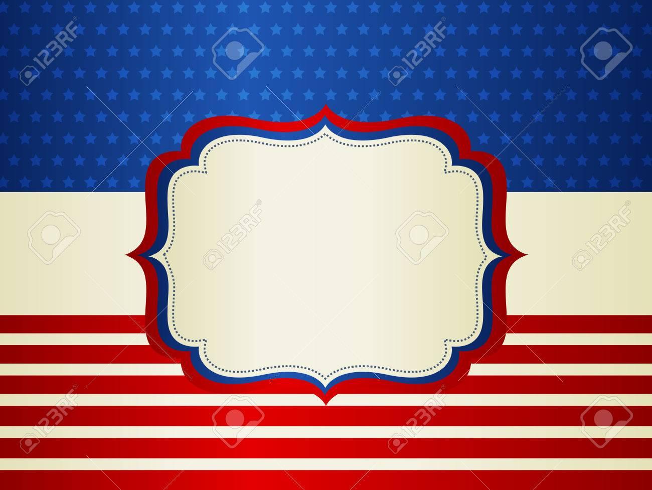 EE.UU. Barras Y Estrellas Marco Patriótico Americano Con El Espacio ...