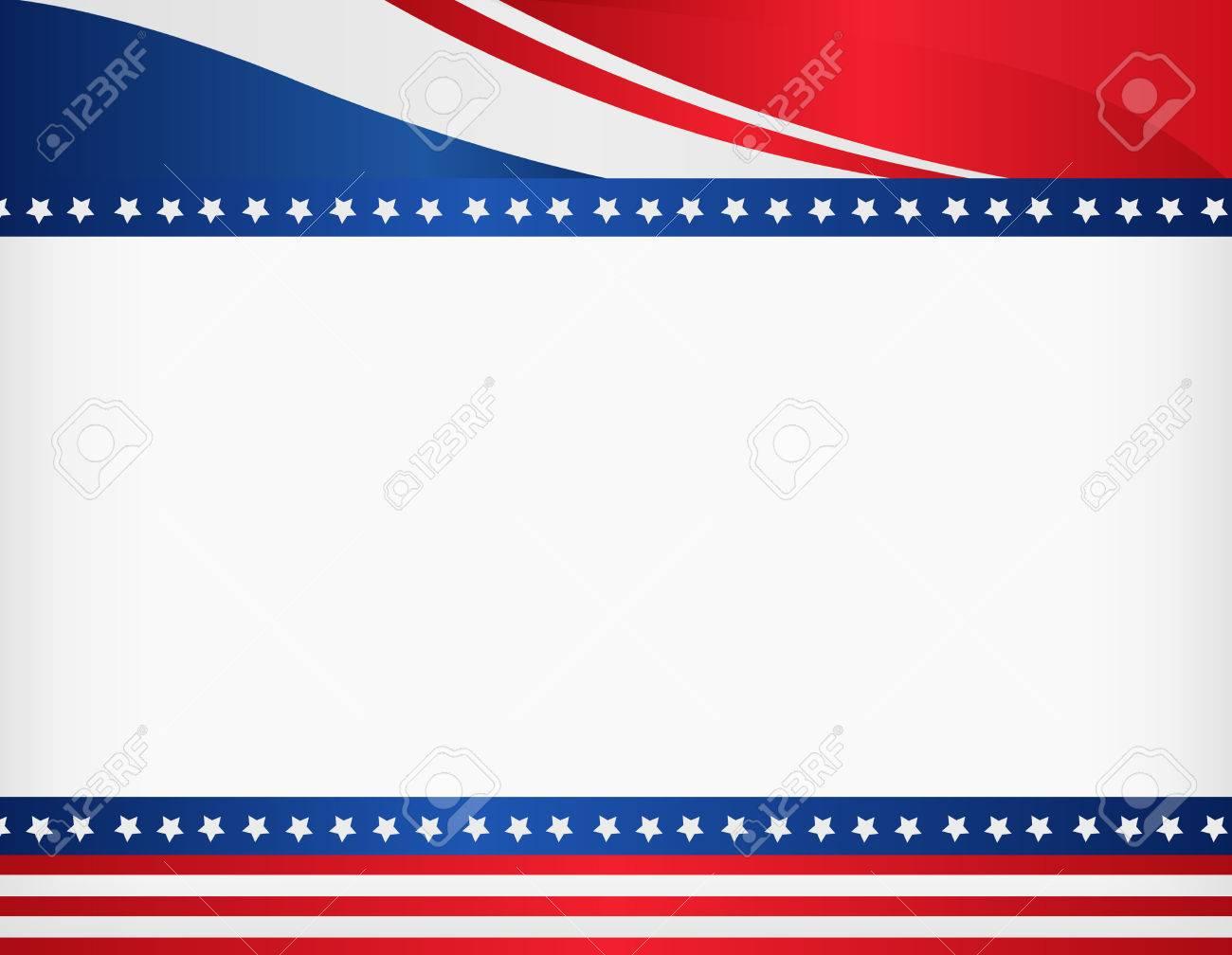 EE.UU. Marco Patriótico Americano Con El Espacio Vacío En El Centro ...