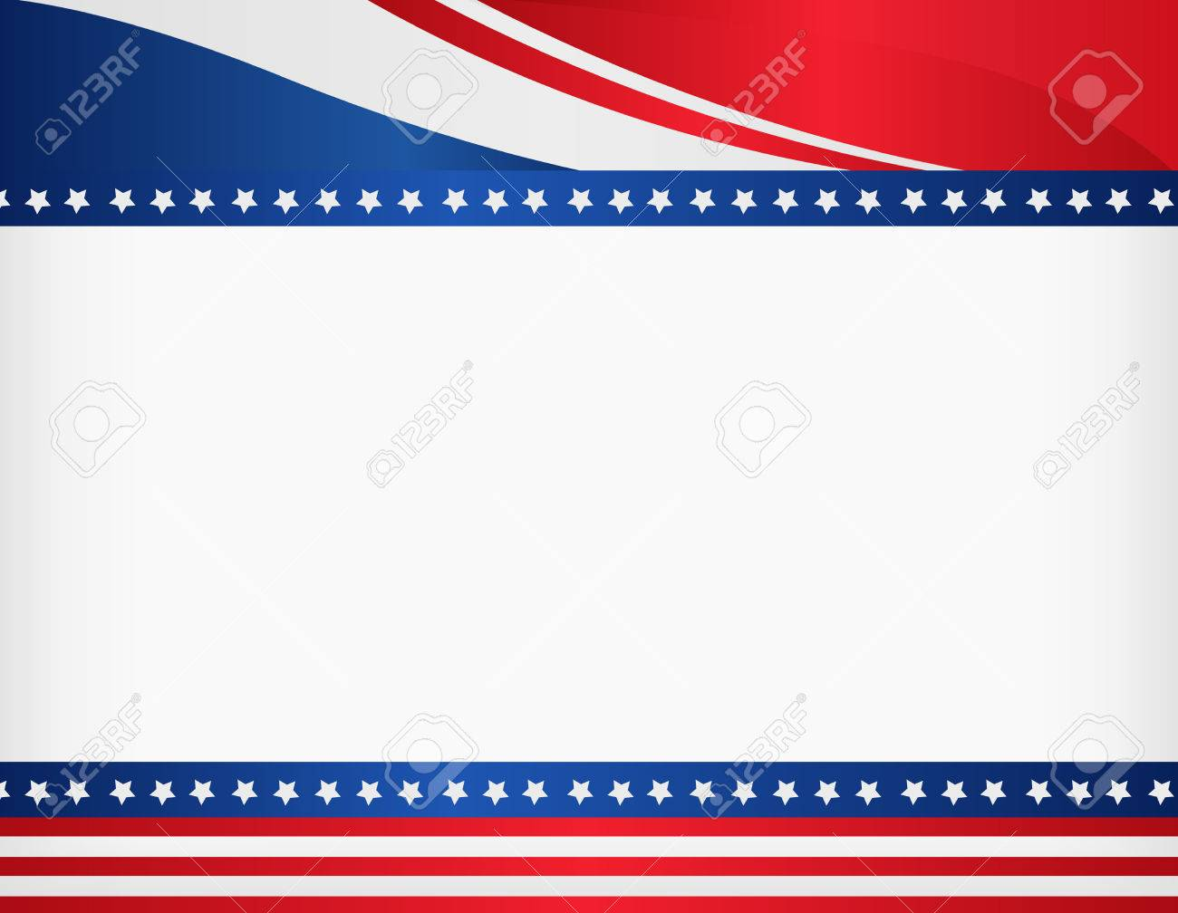 American / USA patriotic frame with empty space on center A traditional vintage american poster design - 38529239