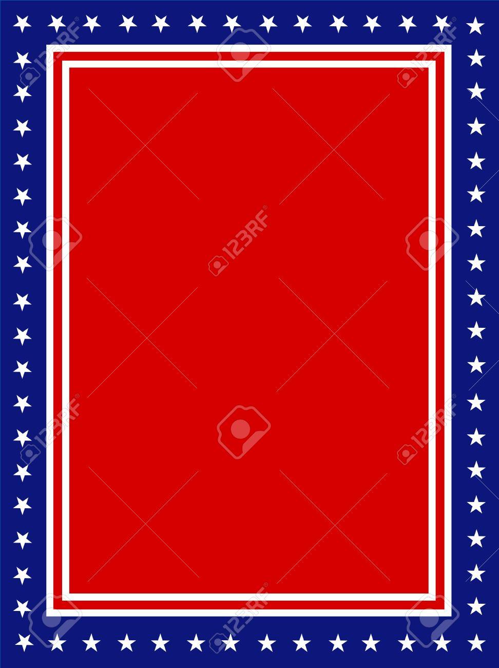 Azul Y Rojo Estrellas Patrióticas Y Página Rayas Diseño De La ...