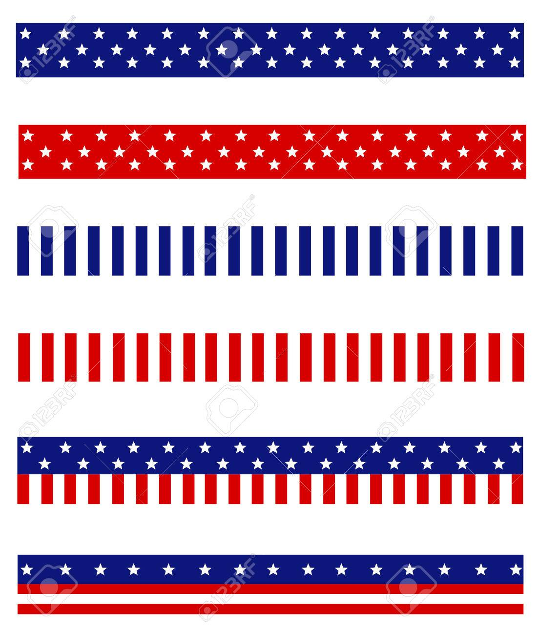Collection Of Blue And Red Patriotic Stars And Stripes Background ...
