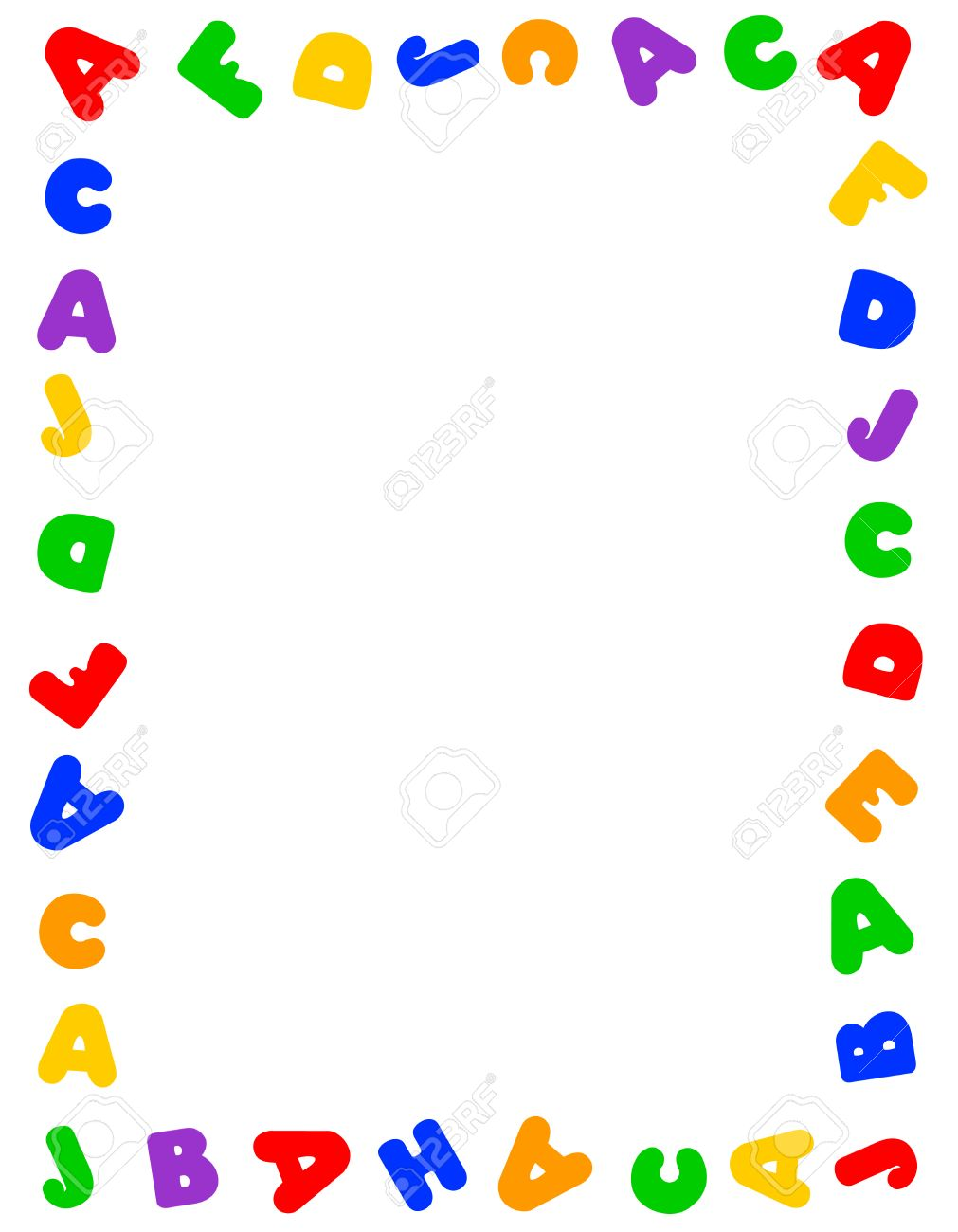 Alphabet Frame For Education, Literacy, Back To School Announcements ...