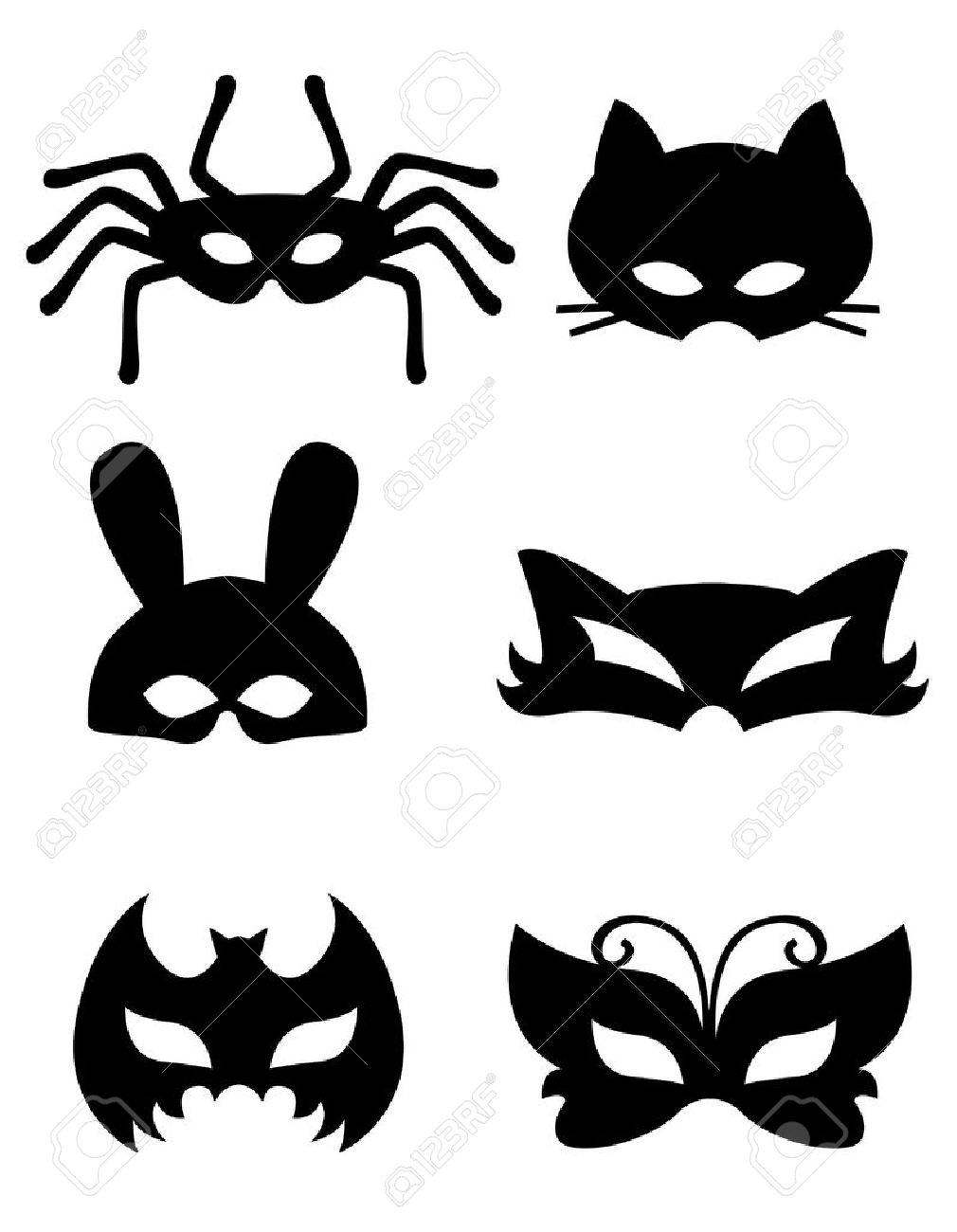 collection of animal masks with animal faces ready to print