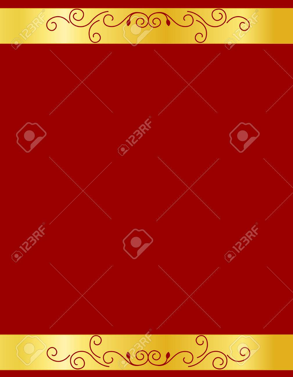 Gold And Red Ornamental Border / Frame Specially For Wedding ...
