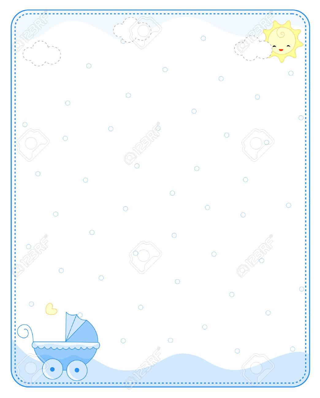 Baby Boy Arrival Announcement Party Invitation Card