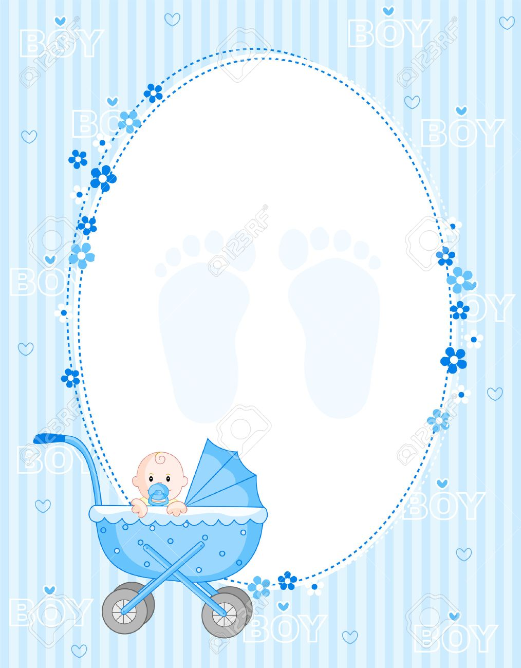 baby boy arrival card party invitation royalty free cliparts