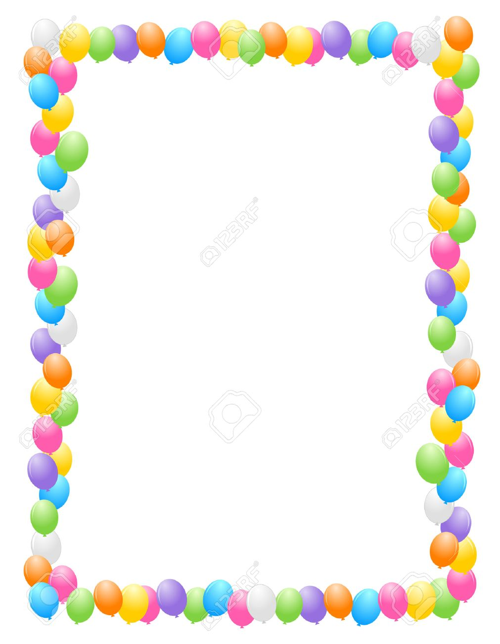 Colorful balloons border frame illustration for birthday cards colorful balloons border frame illustration for birthday cards and party backgrounds stock vector 38545900 thecheapjerseys Images