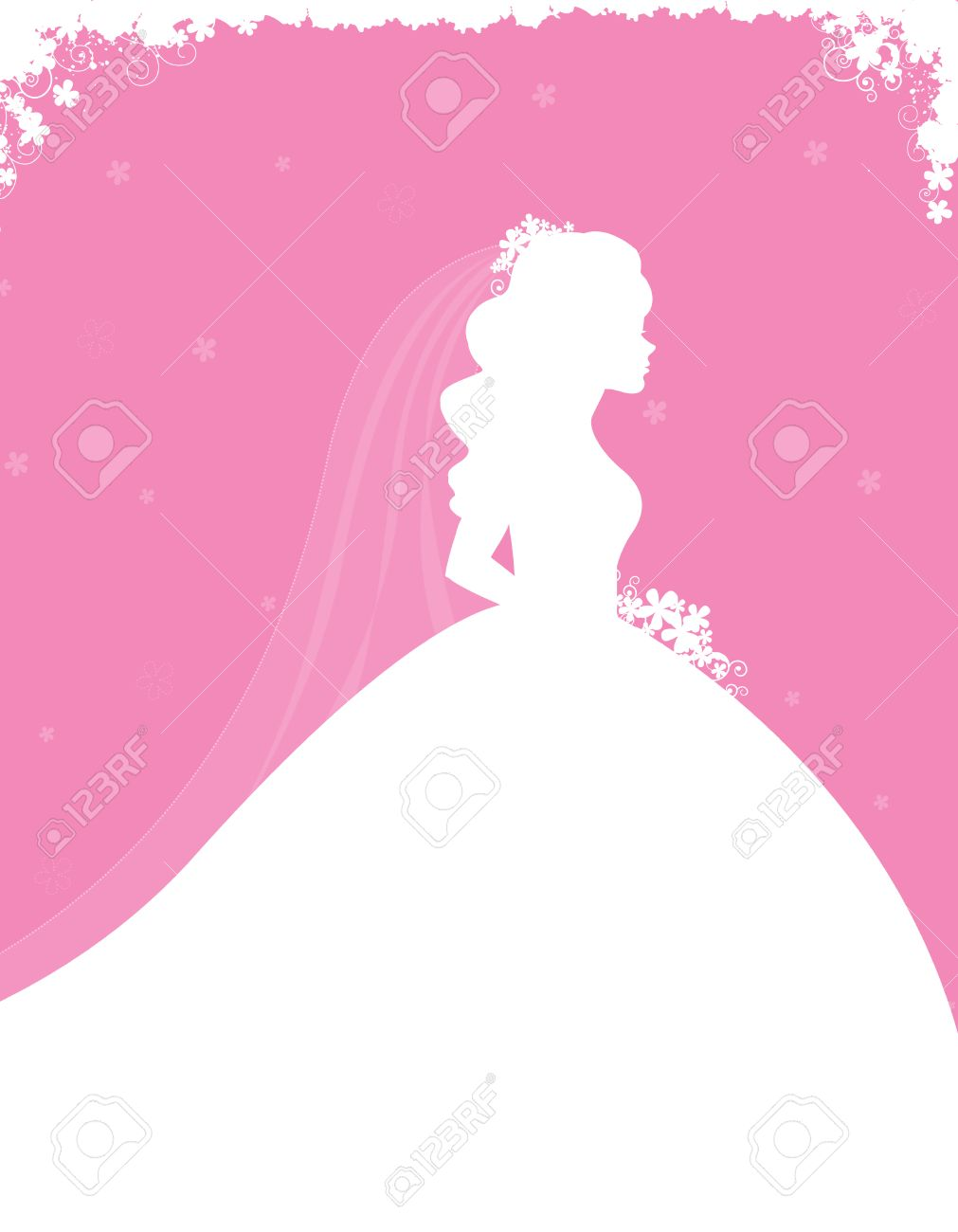 Bridal Shower / Wedding Invitation Card Background With A ...