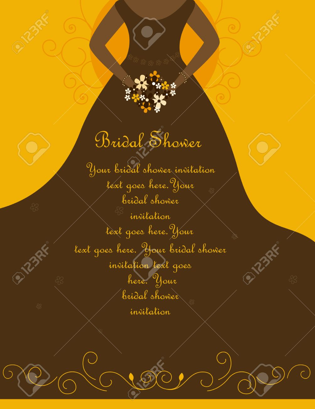 Bridal Shower Wedding Invitation Card Background With A Beautiful