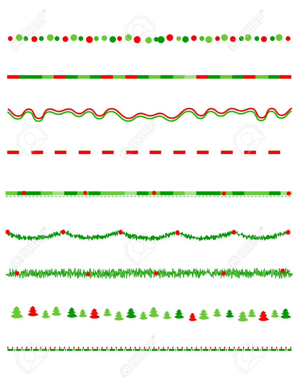 collection on christmas borders divider graphics including