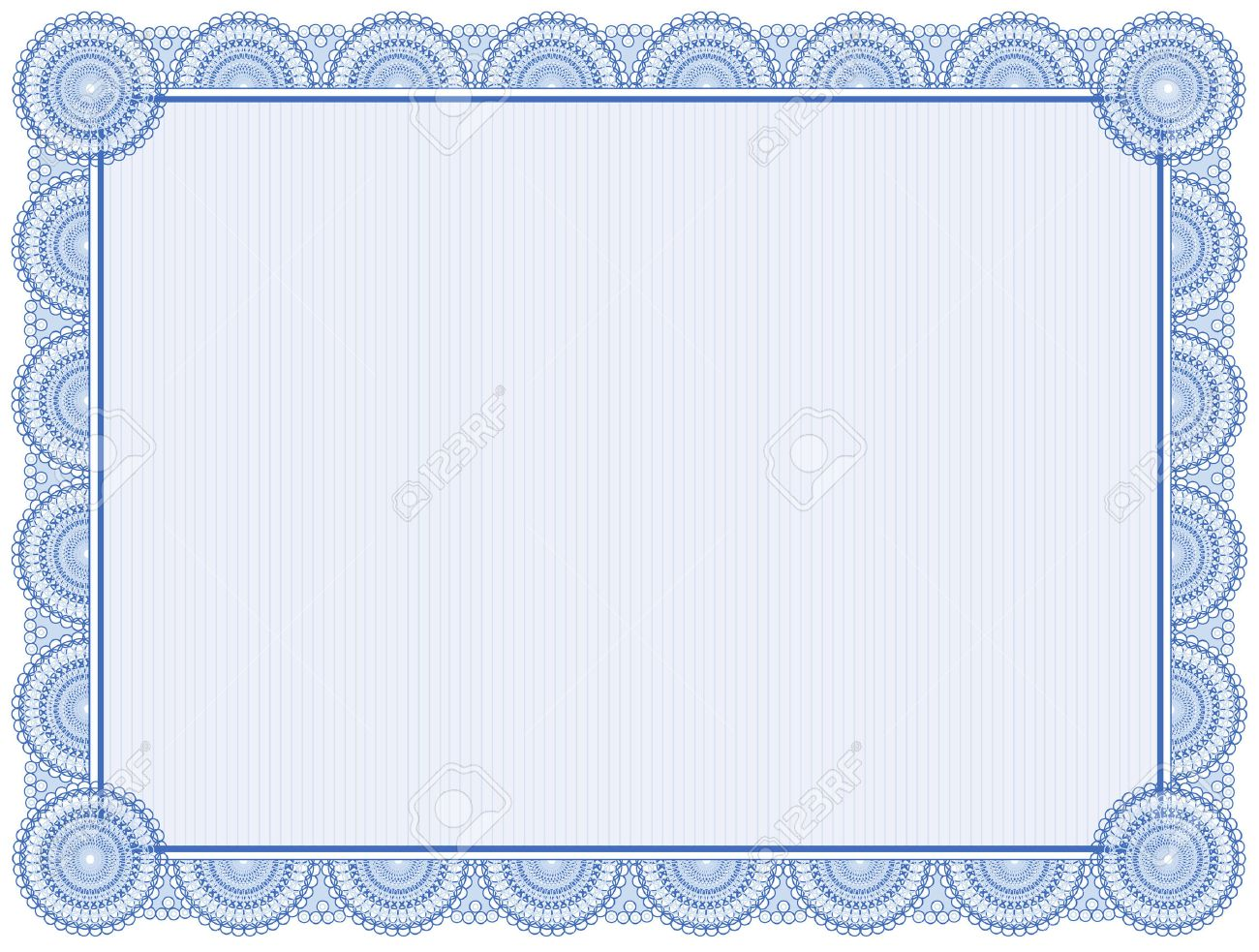 Blank Certificate Frame Isolated On White Royalty Free Cliparts – Blank Share Certificates