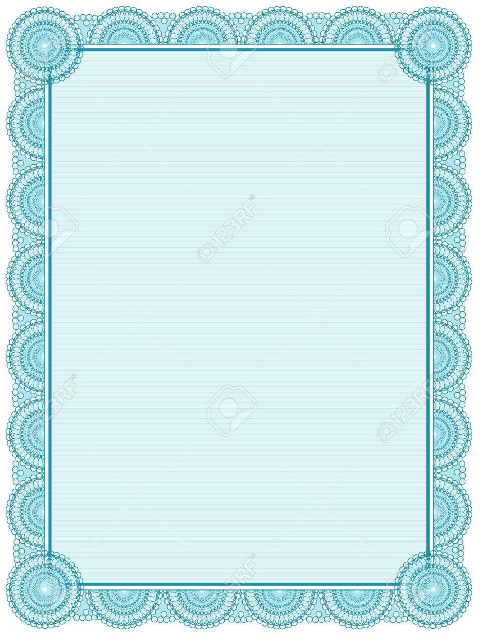 Blank Printable Certificate Frame Template Royalty Free Cliparts – Blank Worksheet Template