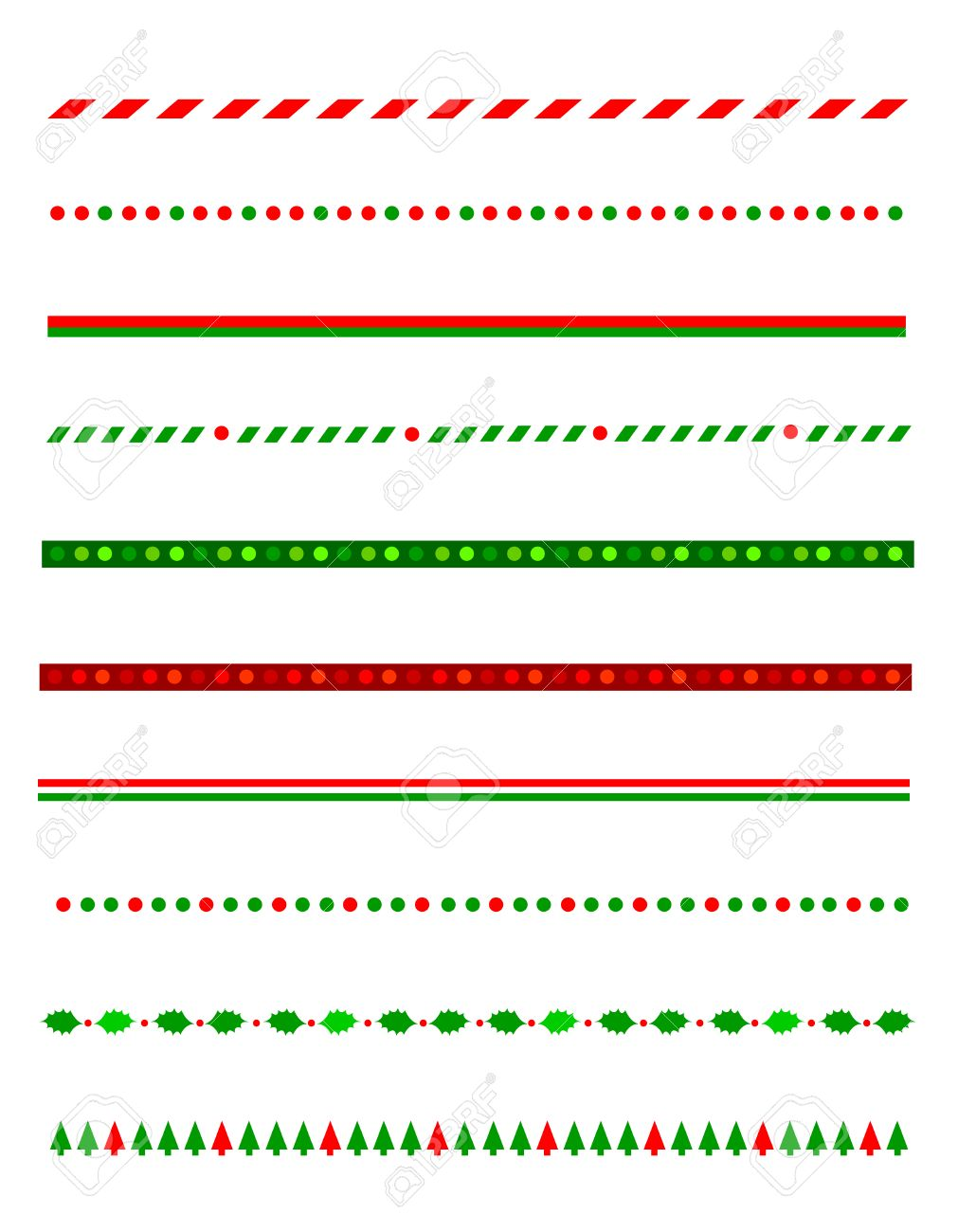 Sammlung Von Einfachen Weihnachten Thematische Grenzen / Teiler ...