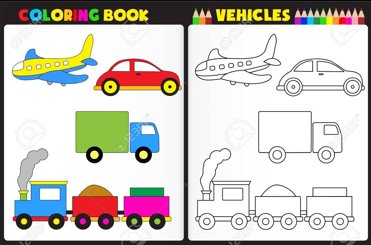 Página Del Libro Para Colorear Para La Escuela Pre Childern Con ...