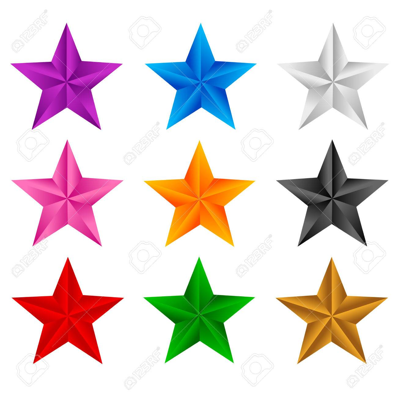 colorful stars clip art isolated on white background royalty free rh 123rf com Colorful Star Cluster Clip Art Colorful Stars Clip Art Graduation