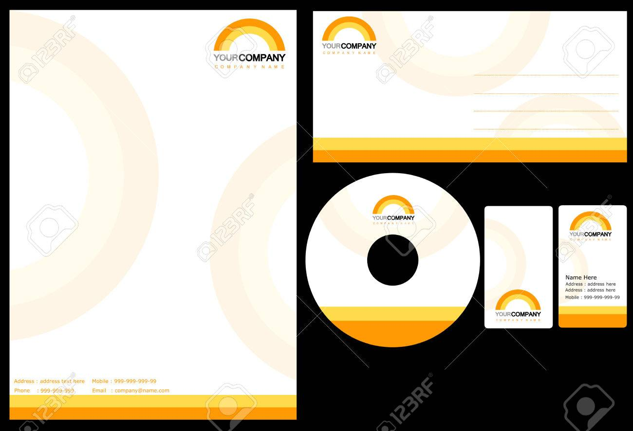 Set Of Corporate Identity Items, Easy To Customize Letterhead ...
