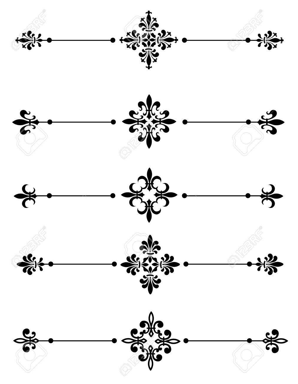 Clipart Fleur clip art collection of different decorative fleur de lis page