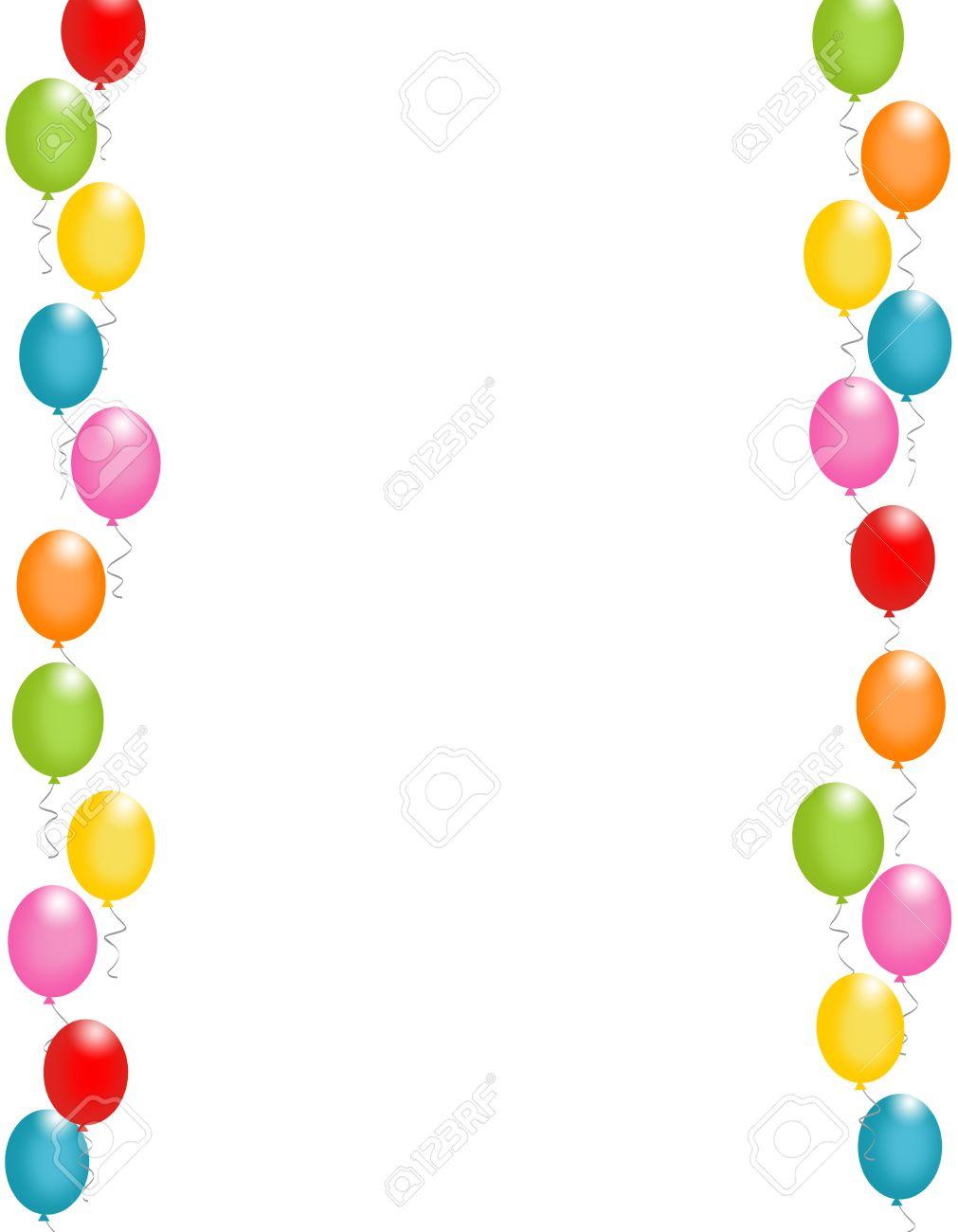 Colorful balloons border frame illustration for birthday cards colorful balloons border frame illustration for birthday cards and party backgrounds stock illustration 38747998 thecheapjerseys Gallery