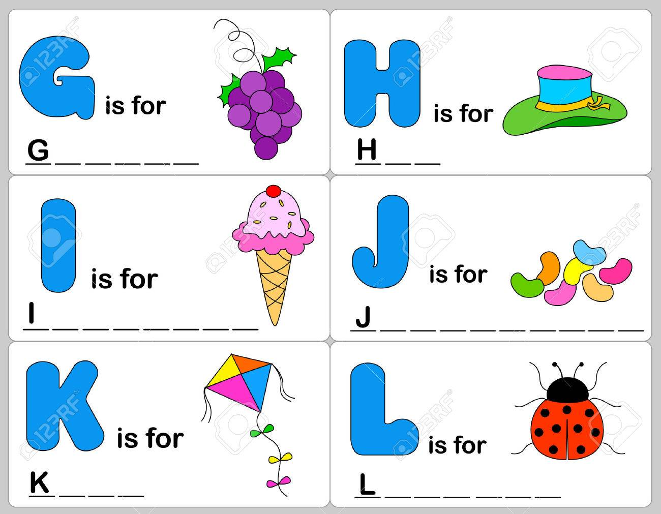 Workbooks simple fill in the blank worksheets : Kids Words Learning Game / Worksheets With Simple Colorful ...