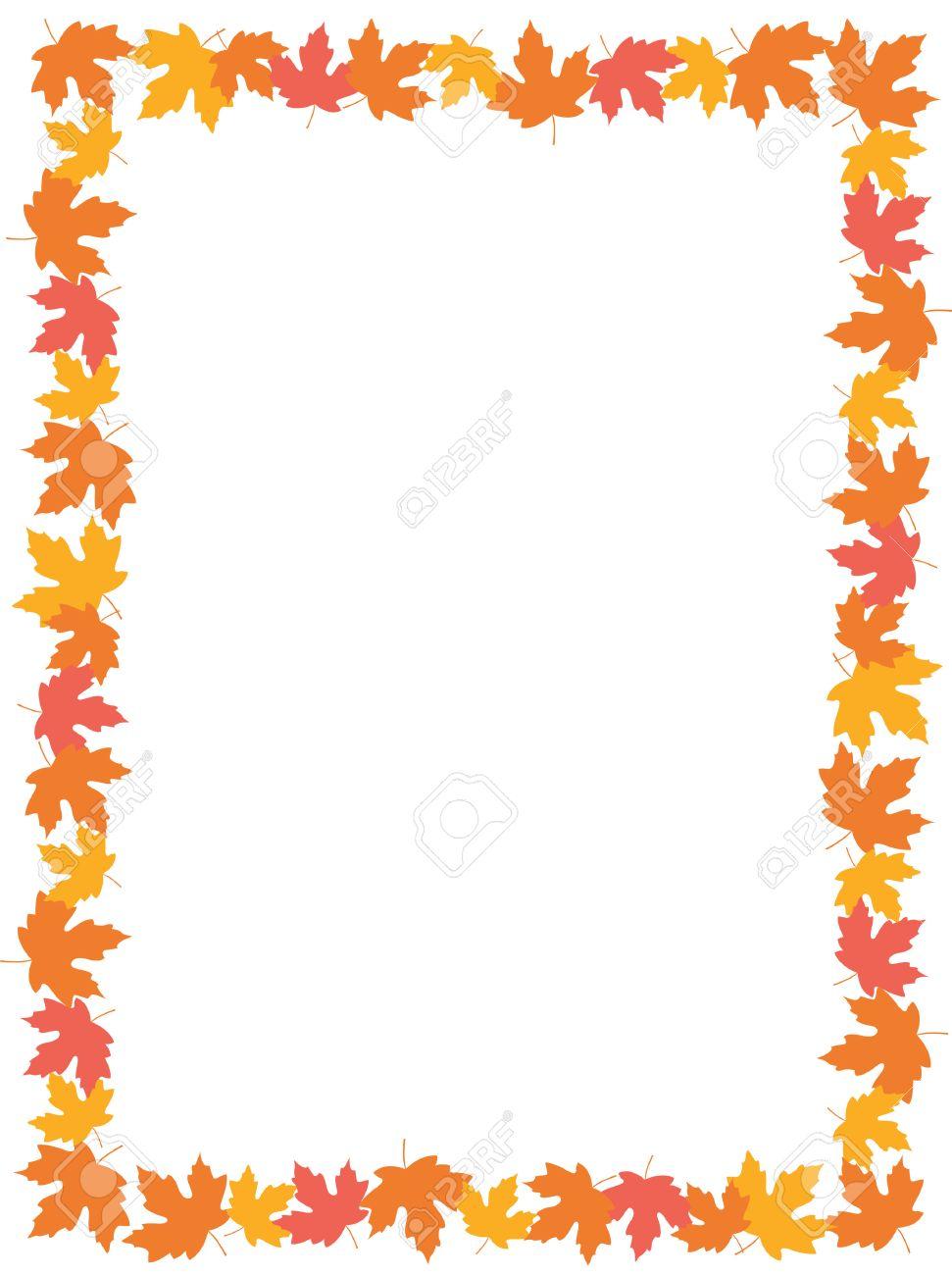 Herbst-Rahmen Mit Bunten Ahornblätter Auf Whte Hintergrund ...