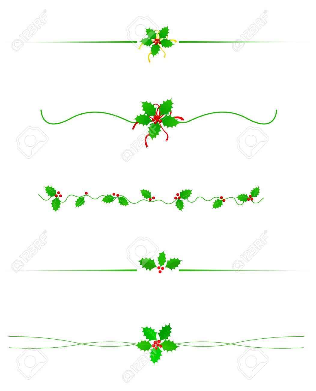 Saubere Holly Blätter Und Beeren Weihnachten / Urlaub Grenze ...