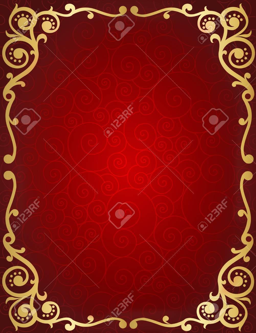 Elegant Wedding Invitation/ Anniversary Background / Frame Design ...