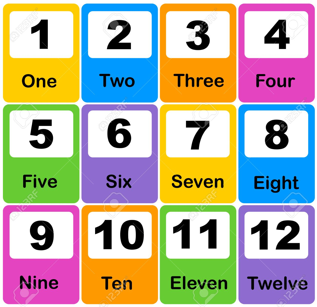 photo regarding Printable Number Cards named Printable range finding out playing cards for preschool, kindergarten small children