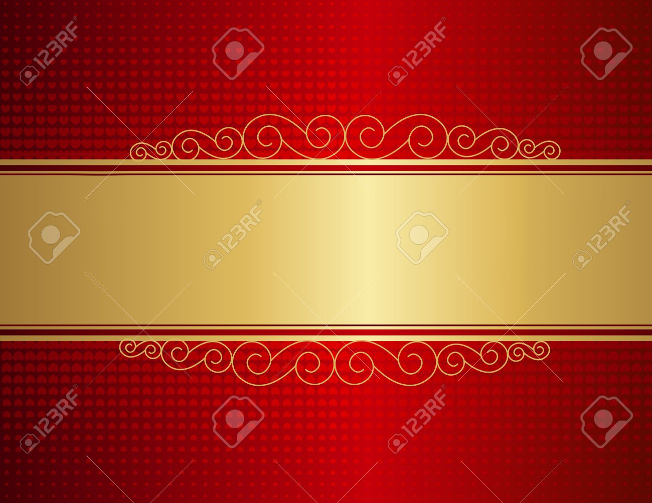 Anniversary background in red and golden color Vector Free Download