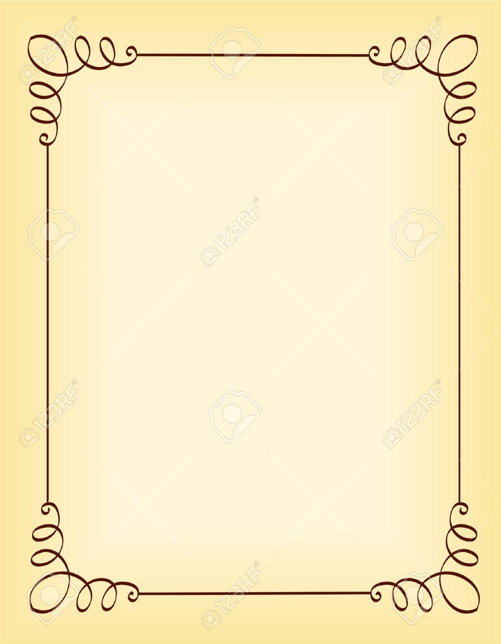 Einzigartige Dekorative Grenze / Rahmen Für Partyeinladung ...