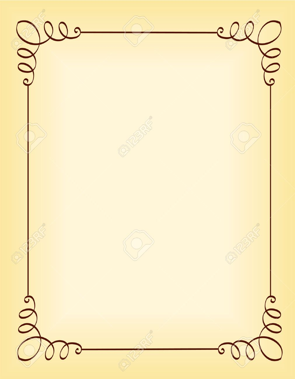 Unique Ornamental Border Frame For Party Invitation Backgrounds