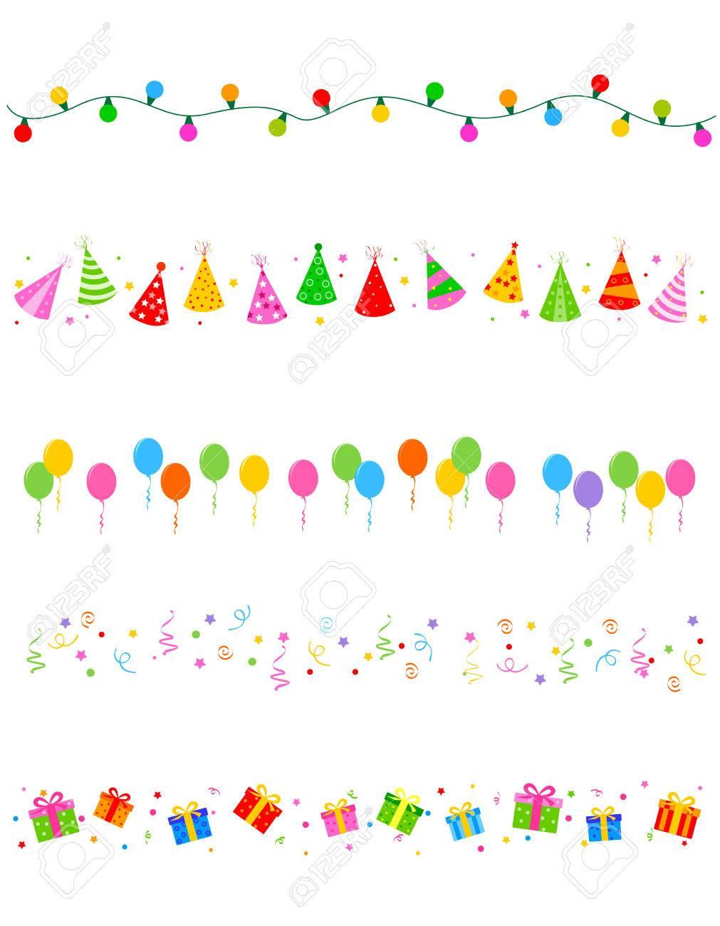 Cumpleaños Y Elementos De Parte De Divisor De Recogida / Marco ...