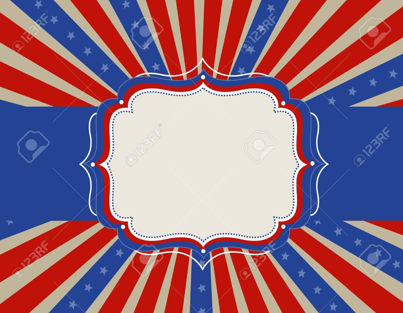 Colorido EE.UU. Estrellas Patrióticas Y Rayas Del Diseño Con El ...