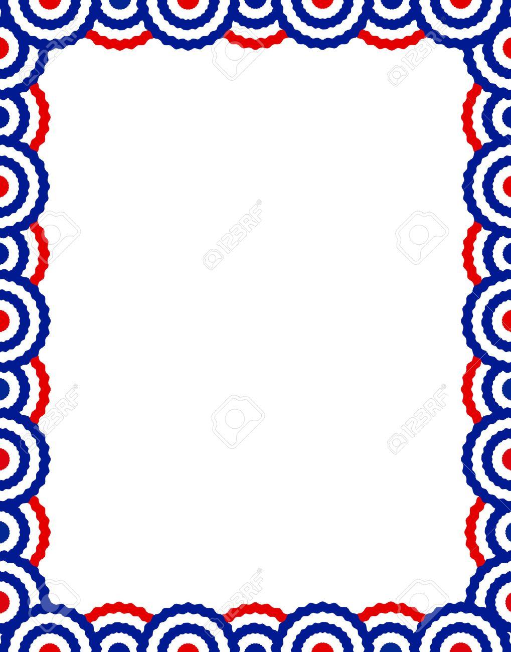 Azul Y EE.UU. Escribanos Patrióticos Colección Diseño De Páginas ...