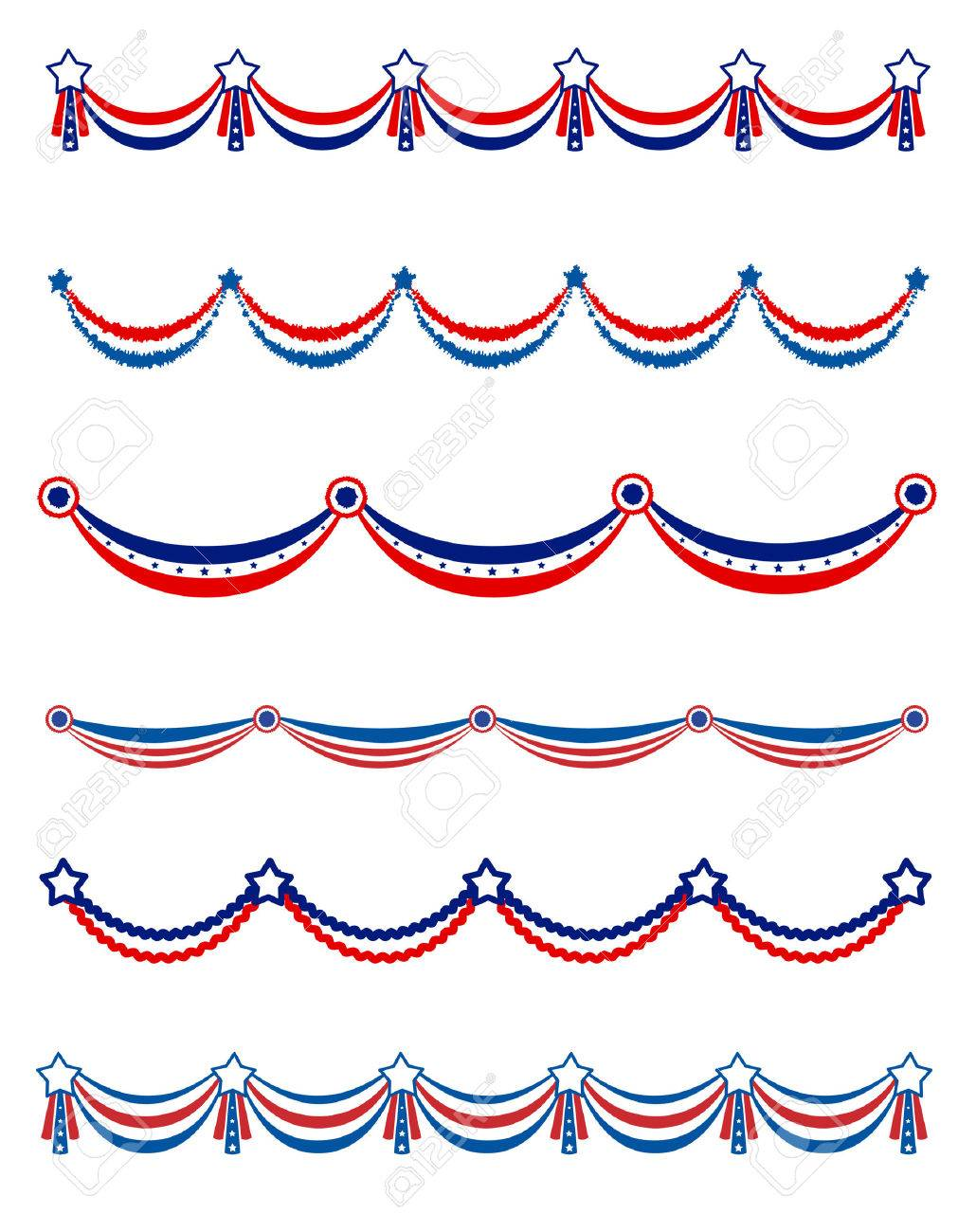 Patriotic , National Day Border / Frames / Bunting Collection ...