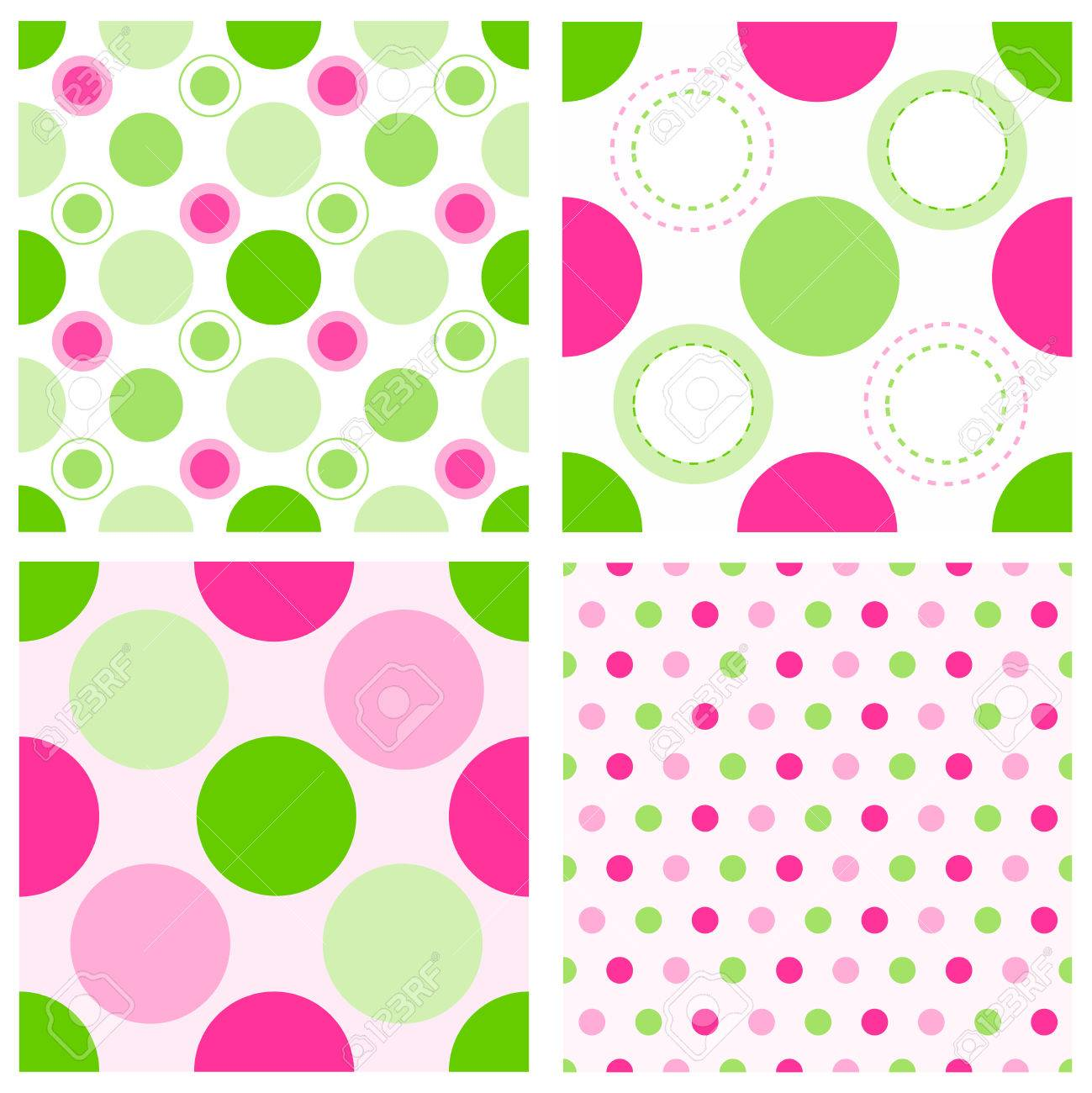 Collection Of Lovely Pink And Green Seamless Polka Dots Pattern Royalty Free Cliparts Vectors And Stock Illustration Image 38908744