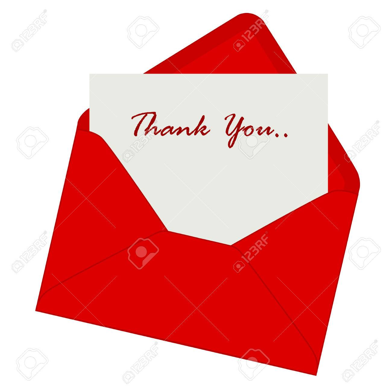 appreciation stock photos images royalty appreciation images appreciation thank you note inside a red envelope illustration isolated on white background