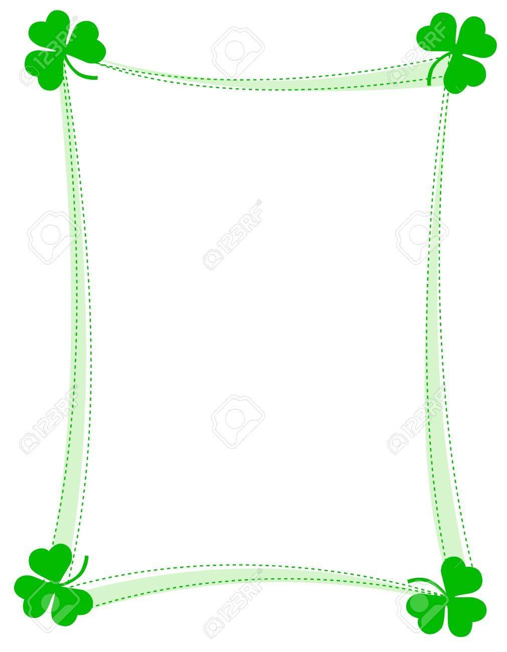 St. Patricks Día Fondo, El Marco Con Los Tréboles Verdes ...