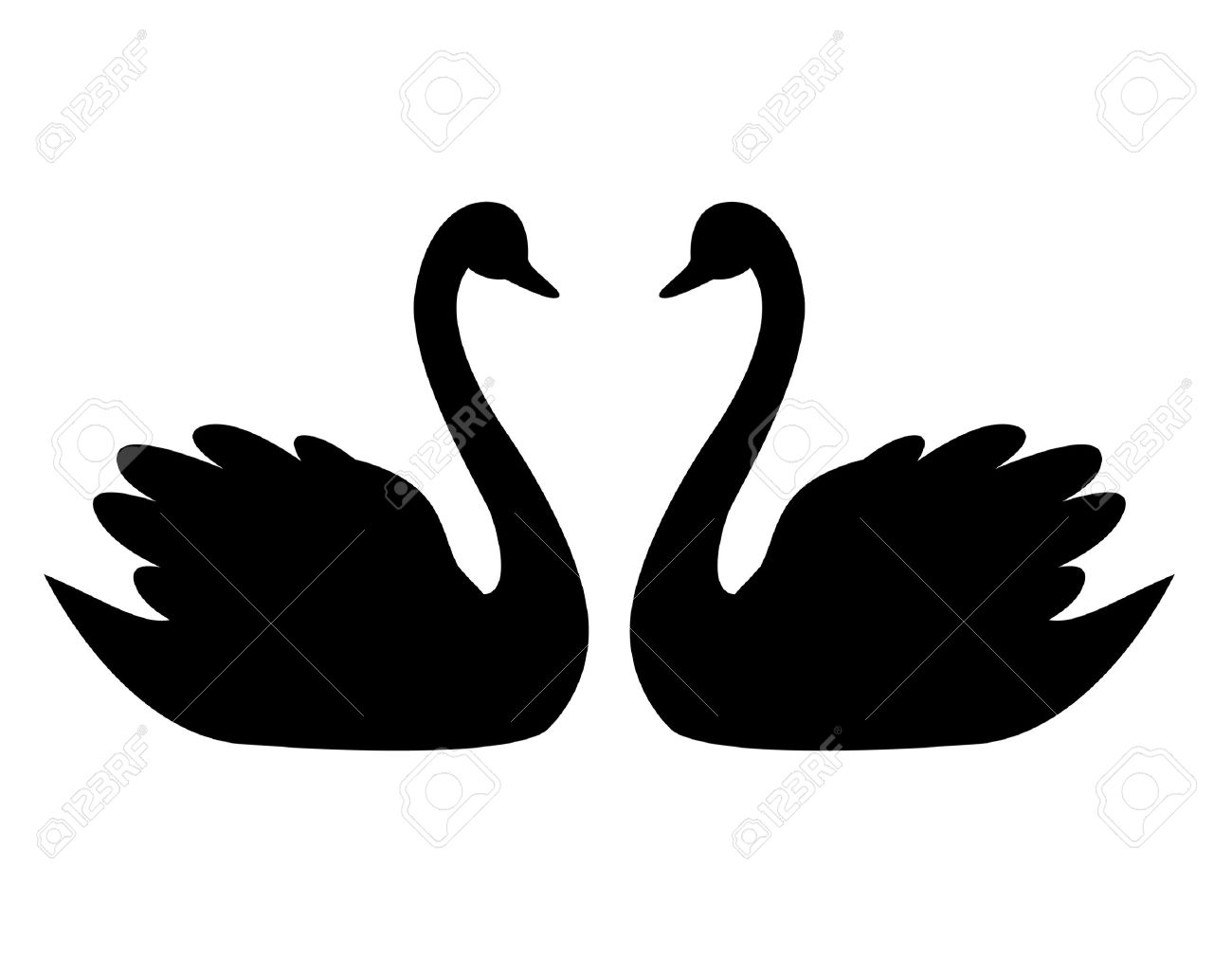 7 735 swan stock vector illustration and royalty free swan clipart rh 123rf com swan clipart pictures swan clip art images