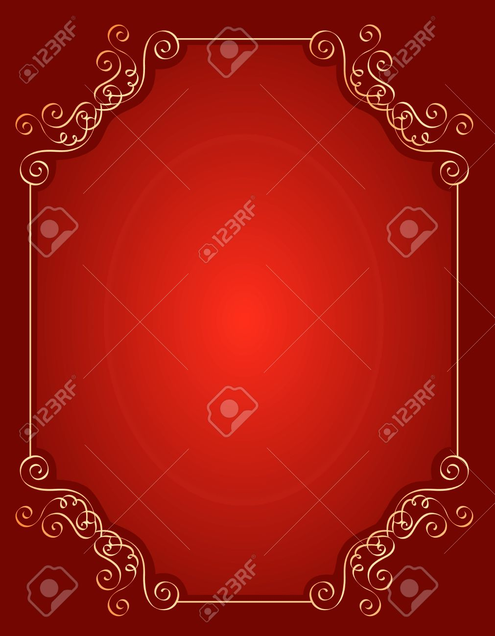 Elegant Gold And Red / Maroon Color Blank / Empty Background ...