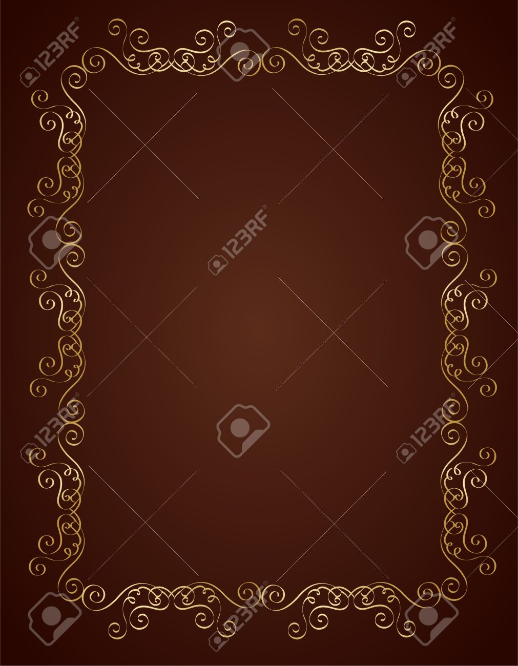 Elegant Gold And Brown / Maroon Color Blank / Empty Background ...