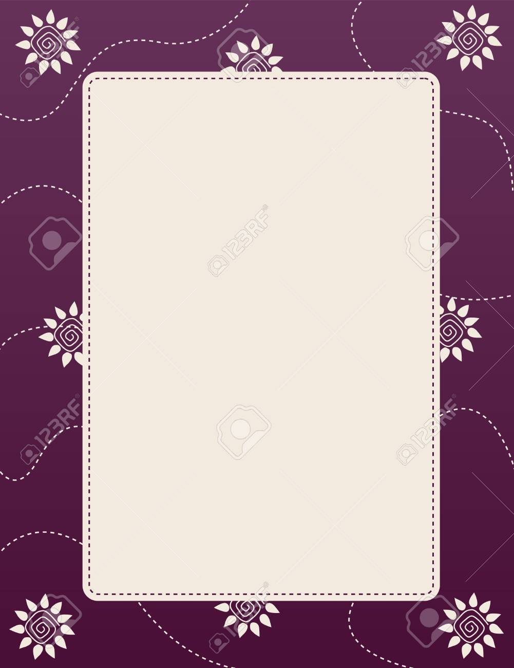 Purple color floral wedding invitation card with empty space royalty purple color floral wedding invitation card with empty space stock vector 38910367 stopboris Image collections