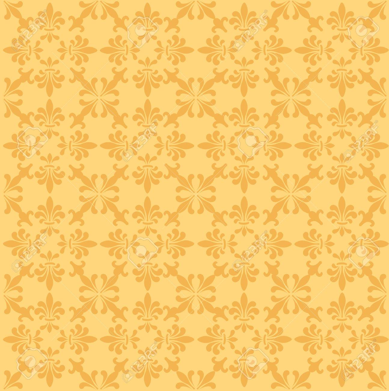 golden floral damask seamless pattern for invitation card backgrounds stock vector 38910485