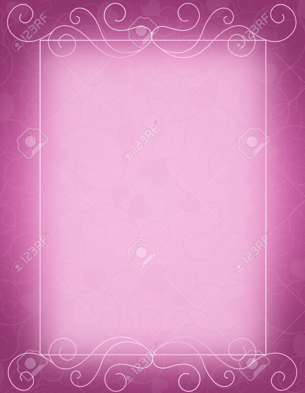 Púrpura Ornamental Frontera / Marco Especial Para El Fondo Tarjeta ...
